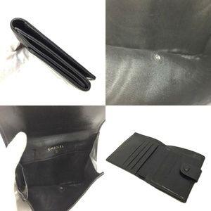 Chanel Bags - Auth Chanel Cc Logo Black Lambskin #1455C82